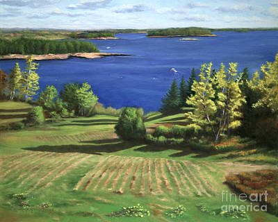 Maine Seacoast Painting - Englishmans Bay by Rosemarie Morelli