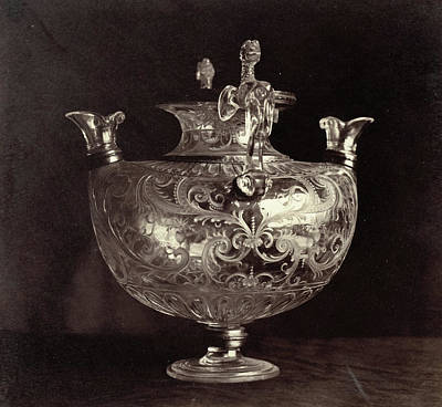 Louvre Drawing - Engraved Crystal Jug From The Louvre, Charles Thurston by Artokoloro