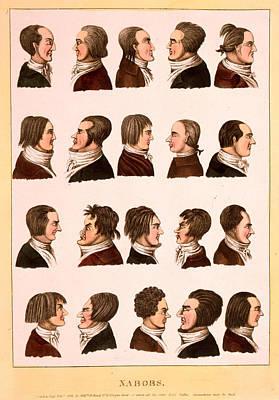 Engraving 1811, Profile Portraits Of 20 Men Art Print by Litz Collection