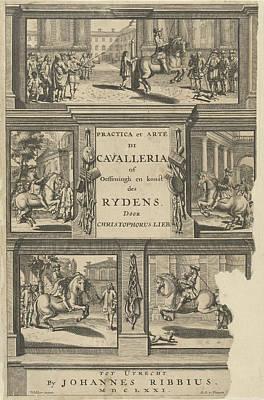 Engraving For Practicals Et Arte Di Cavalleria Or Print by Artokoloro