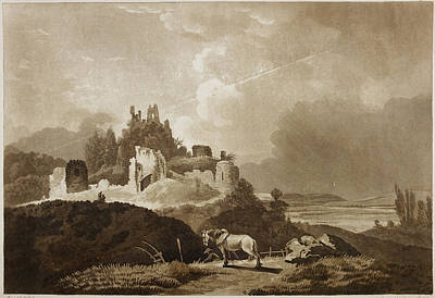 Castle Photograph - Engraving Of Wigmore Castle by British Library