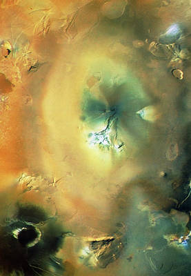Enhanced Natural Col. Image Of Io's Volcano Art Print