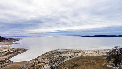 Photograph - Enid Lake - Winter Landscape by Barry Jones