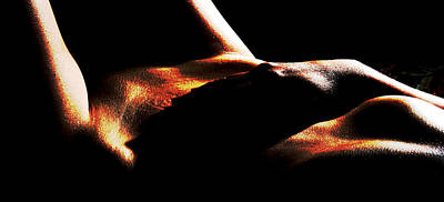Abstract Female Torso Photograph - Enigma by Joe Kozlowski