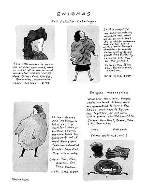 Bizarre Drawing - Enigmas, Fall/winter Catalogue by Danny Shanahan