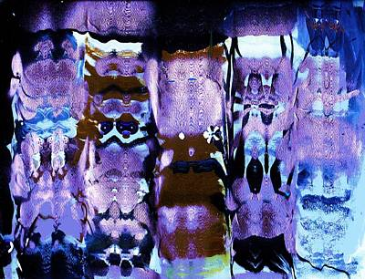 Hidden Objects Painting - Enigmatic Shapes With Lavender And Blue by Anne-Elizabeth Whiteway