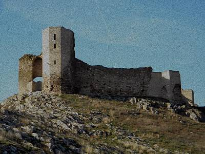 Photograph - Enisala Fortress Canvas by Manuela Constantin