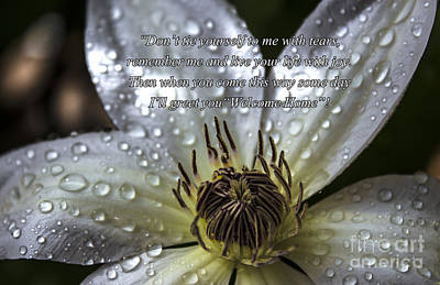 Photograph - Enjoy Life Inspirational Clematis by Ginette Callaway