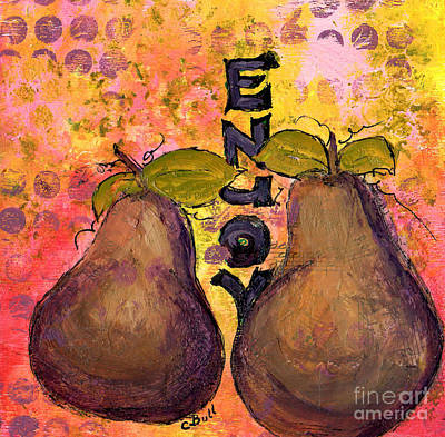 Painting - Enjoy Pears by Claire Bull