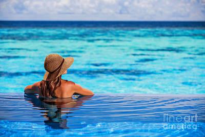 Sexy Indian Girl Photograph - Enjoying Beach Resort by Anna Om
