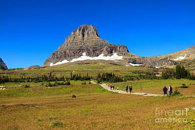Photograph - Enjoying Logan Pass Summit by Robert Bales