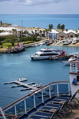 Photograph - Enjoying The Harbor View by Lucinda Walter