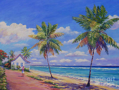 Puerto Rico Painting - Enjoying The Moment by John Clark