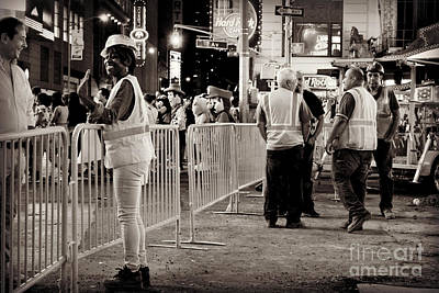 Photograph - Night Is For Fun - Times Square by Miriam Danar