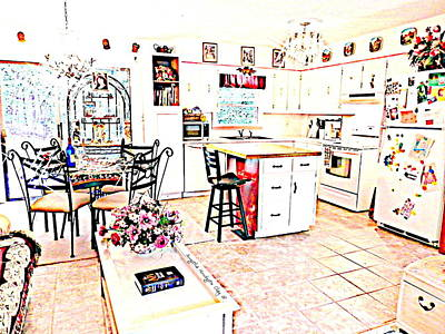 Digital Art - Enjoyment At Home by Angelia Hodges Clay