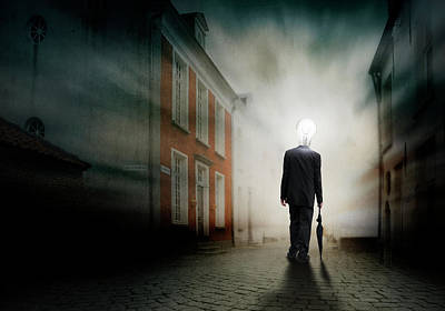 Montage Photograph - Enlighted Town-poet. by Ben Goossens