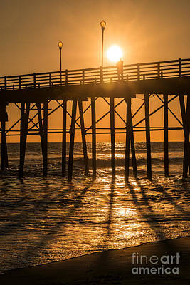 Photograph - Enlightened At Oceanside Pier by Ana V Ramirez