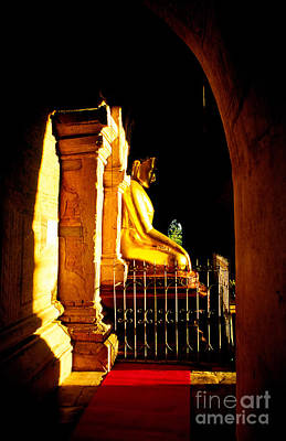Banian Photograph - Enlightened Buddha - Myanmar by Luciano Mortula