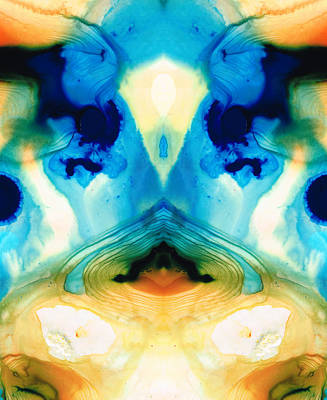 Divinity Painting - Enlightenment - Abstract Art By Sharon Cummings by Sharon Cummings
