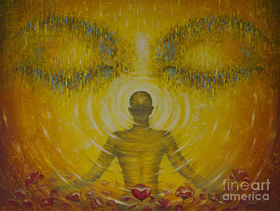 Painting - Enlightenment by Vrindavan Das