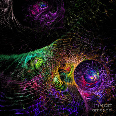 Abstract Design Digital Art - Enmeshing by Klara Acel