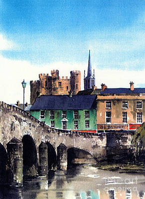 Castle Mixed Media - Enniscorthy  Wexford by Val Byrne
