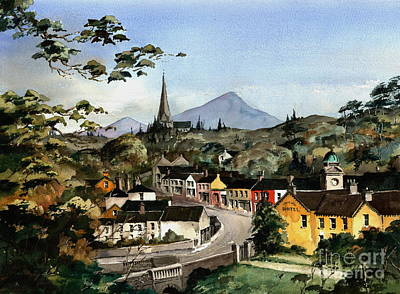 Painting - Enniskerry Panorama Wicklow by Val Byrne