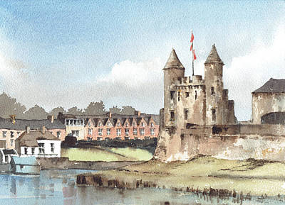 Painting - Enniskillen Castle Fermanagh by Val Byrne