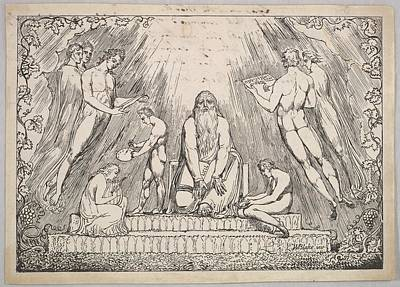 Blake Drawing - Enoch by William Blake