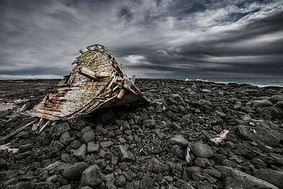 Shipwreck Wall Art - Photograph - Enok by Bragi Ingibergsson -