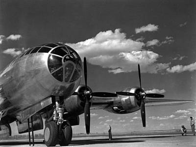 Atomic Photograph - Enola Gay On Runway by Retro Images Archive