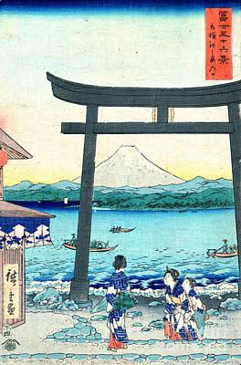 Ando Hiroshige Photograph - Enoshima Gateway Sagami 1858 by Padre Art