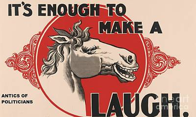 Perhaps Painting - Enough To Make A Horse Laugh by Pg Reproductions