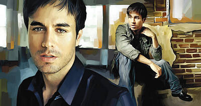 Songwriter Painting - Enrique Iglesias Artwork 1 by Sheraz A