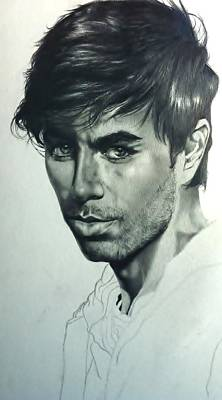 Drawing - Enrique Iglesias by Carl Baker