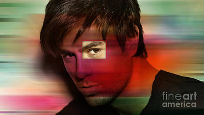 Enrique Iglesias Art Print by Marvin Blaine