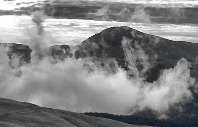 Photograph - Ensconced In Clouds  by Don Schwartz