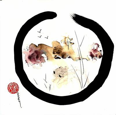 Painting - Enso Carmel Valley Peace by Casey Shannon