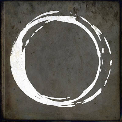 Enso No. 107 Gray Brown Art Print