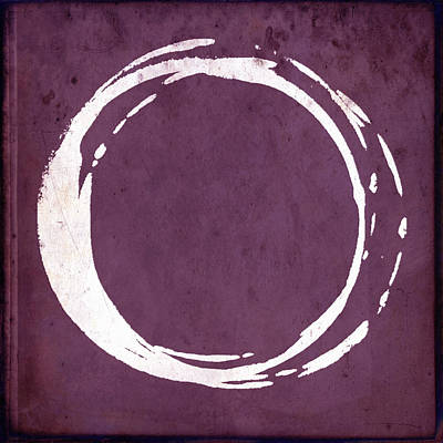 Circle Painting - Enso No. 107 Magenta by Julie Niemela