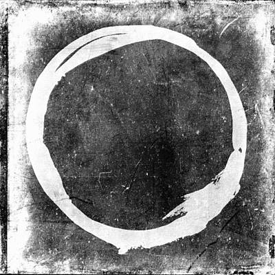 Enso No. 109 White On Black Art Print