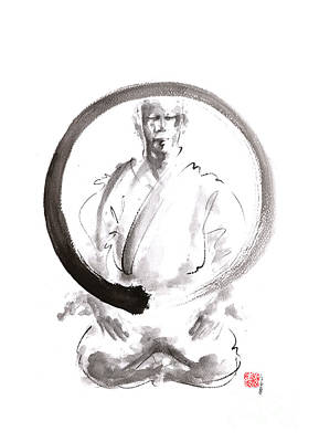 Japanese-art Painting - Enso. Zen Circle Martial Arts. by Mariusz Szmerdt