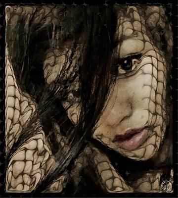 Sorrow Digital Art - Entangled by Gun Legler