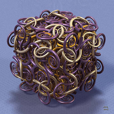 Digital Art - Entangled Spirals II by Manny Lorenzo
