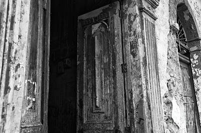 Photograph - Enter At Your Own Risk Mono by John Rizzuto