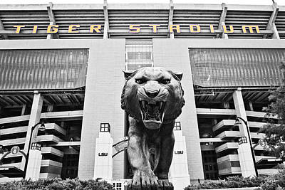 Tiger Stadium Photograph - Enter At Your Own Risk by Scott Pellegrin