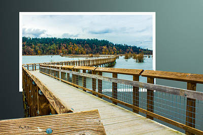 Photograph - Landscape - Boardwalk - Enter Here by Barry Jones