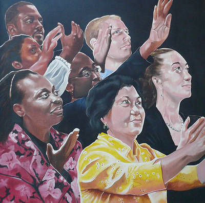 Painting - Enter-racial Praise by Belle Massey