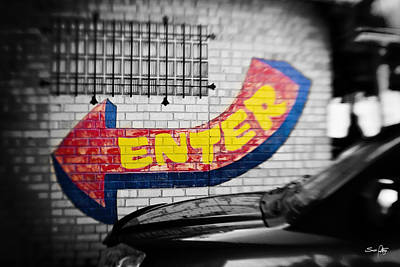 Enter - Selective Color Art Print
