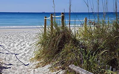 Enter The Beach Art Print by Susan Leggett